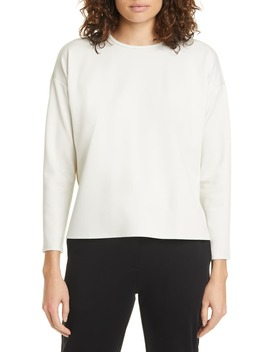 Boxy Crewneck Top by Eileen Fisher