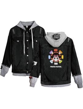 One Piece Stampede Denim Jacket Men Women Anime Sweatshirts Couples Denim Coat Cosplay Autumn Streetwear Casual Hooded Coat by Wish