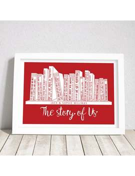 The Story Of Us, Personalised A3 Print, Personalized Family Print, Couple Timeline, Print Only by Etsy