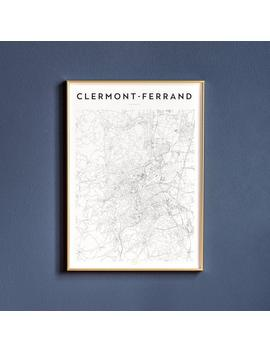 Clermont Ferrand Map Print | Wall Art | Print | Poster | Map | Map Print | Wall Decor | Art Print | Map Art | Clermont Ferrand by Etsy