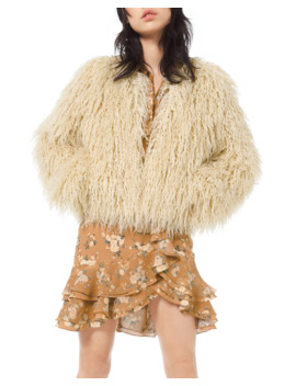 Faux Fur Chubby Coat by Michael Kors Collection