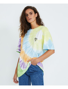 Graffiti Bf T Shirt Tie Dye Multi by Au