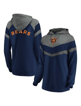 Women's Chicago Bears Fanatics Branded Navy Go All Out Pullover Hoodie by Nfl
