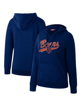 Women's Chicago Bears Mitchell & Ness Navy Winning Team Pullover Hoodie by Nfl