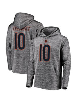 Men's Chicago Bears Mitchell Trubisky Nfl Pro Line By Fanatics Branded Gray Streak Fleece Name & Number Pullover Hoodie by Nfl