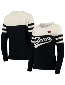 Women's Chicago Bears Touch By Alyssa Milano Navy/White Tailgate Colorblock Sweater by Nfl