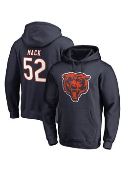Men's Chicago Bears Khalil Mack Nfl Pro Line By Fanatics Branded Navy Team Logo Player Icon Name & Number Pullover Hoodie by Nfl