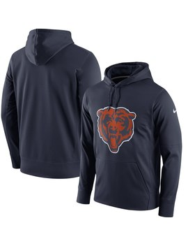 Men's Chicago Bears Nike Navy Circuit Logo Essential Performance Pullover Hoodie by Nfl