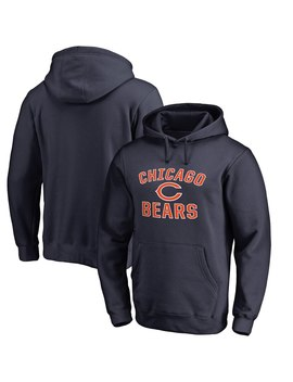 Men's Chicago Bears Nfl Pro Line Navy Victory Arch Pullover Hoodie by Nfl