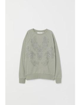 Sweatshirt Mit Spitze by H&M
