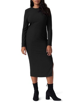 Lexi Long Sleeve Ribbed Midi Dress by Universal Standard