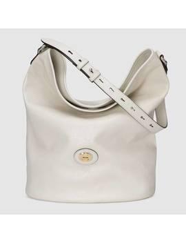 Leather Hobo Shoulder Bag by Gucci