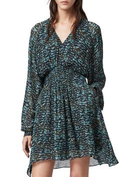Nichola Plume Long Sleeve Dress by Allsaints