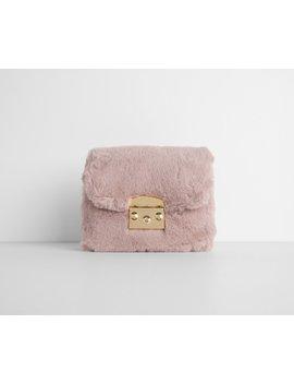 Pink Aesthetic Faux Fur Cross Body Purse by Windsor