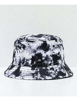 Ninth Hall Get A Trip Black & White Tie Dye Bucket Hat by Ninth Hall