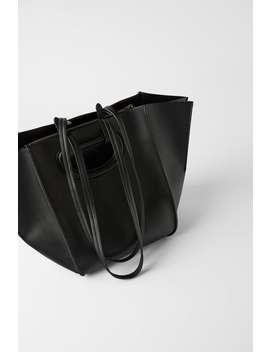 Bolso Shopper Pliegues by Zara