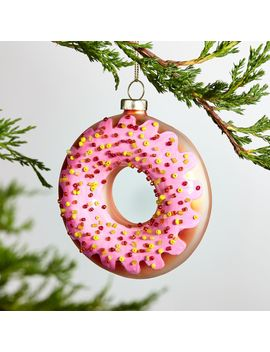 Frosted Donut Ornament by Crate&Barrel