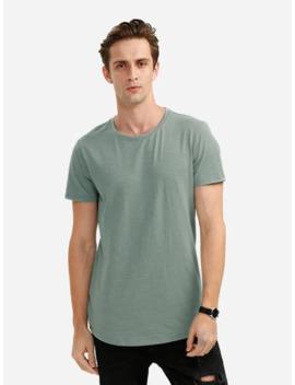Zan.Style Round Neck T Shirt   Green Xl by Zaful