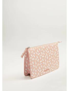Zippered Print Bag by Mango
