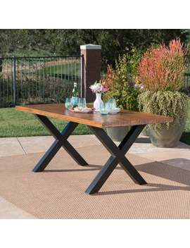 Islamorada Outdoor Rectangle Light Weight Concrete Dining Table By Christopher Knight Home by Christopher Knight Home