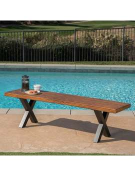 Islamorada Outdoor Light Weight Concrete Picnic Dining Bench By Christopher Knight Home by Christopher Knight Home