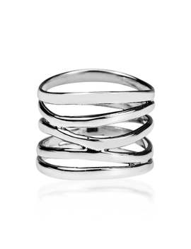 Handmade Wide Five Band Coil Wrap Sterling Silver Ring (Thailand) by Aeravida