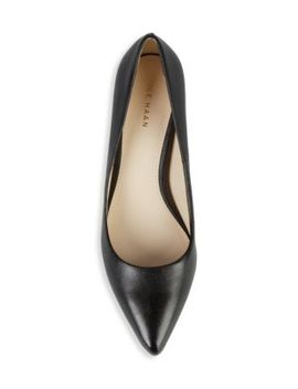 Harlow Point Toe Leather Pumps by Cole Haan