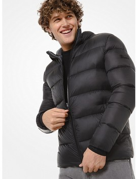 Quilted Nylon Hooded Puffer Jacket by Michael Kors Mens