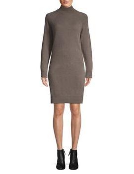 Mockneck Cashmere Sweater Dress by Cashmere Saks Fifth Avenue