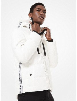 Eco Friendly Logo Tape Quilted Puffer Coat by Michael Kors Mens