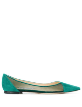 Saia Flat Ballerinas by Jimmy Choo