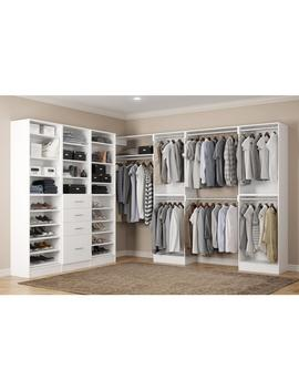 Calabria Walk In 15 In. D X 243 In. W X 84 In. H Glacier White Wood Closet System by Home Decorators Collection
