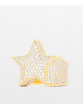 The Gold Gods Diamond Star Gold Ring by The Gold Gods