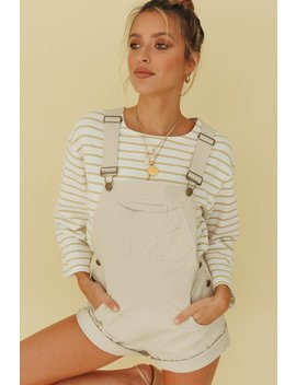 Vg Taken Place Dungarees // Natural by Vergegirl
