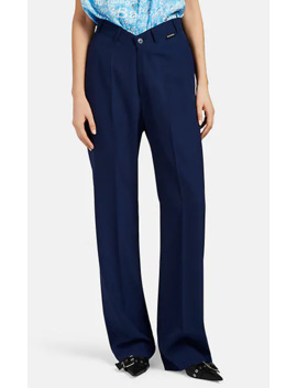 V'd Waist Wool Relaxed Trousers by Balenciaga
