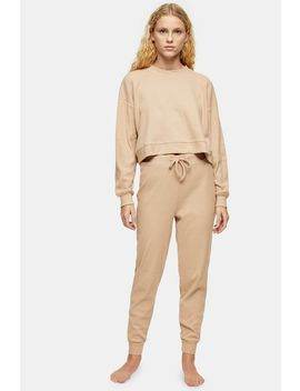 Brushed Ribbed Loungewear Joggers by Topshop