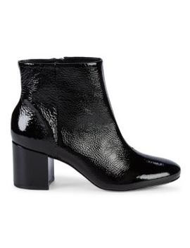 Patent Leather Booties by Saks Fifth Avenue