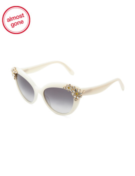 55mm Cat Eye Designer Sunglasses by Tj Maxx