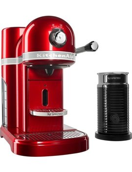 Kes0504 Ca Nespresso Espresso Maker/Coffee Maker/Milk Frother   Candy Apple Red by Kitchen Aid