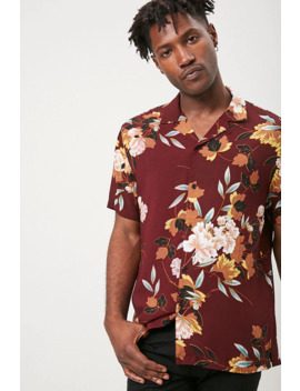 Classic Floral & Leaf Print Shirt by Forever 21