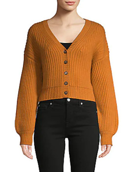 Wool & Cashmere Short Cardigan Sweater by Naadam
