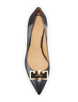 Gigi Leather/Suede Pointy Pumps by Tory Burch