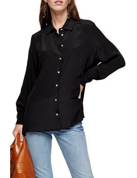 Oversize Silk Shirt by Topshop