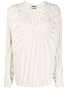 V Neck Rib Sweater by Acne Studios