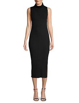 Rib Knit Cashmere Turtleneck Tank Dress by Naadam