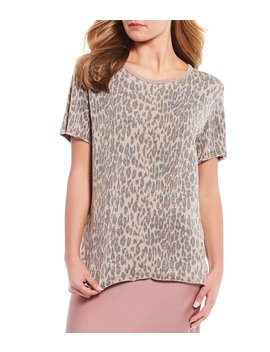 Tourist Crew Neck Leopard Print Tee by Free People