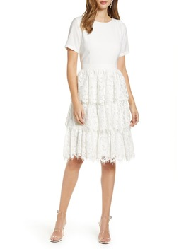 Mix Lace Dress by Rachel Parcell