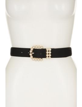 Pearl Buckle Belt by Linea Pelle