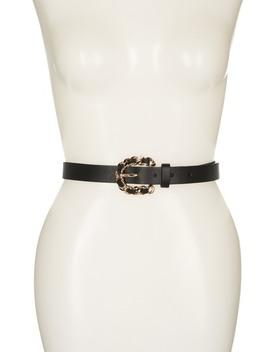 Woven Chain Buckle Belt by Linea Pelle