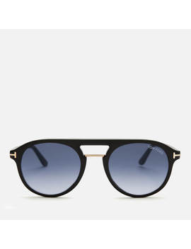 Tom Ford Men's Ivan Sunglasses   Shiny Black/Gradient Blue by Tom Ford